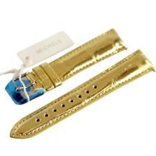 NEW Michele 18mm Gold Alligator Deco CSX Watch Band Strap