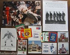 odd lot Football stuff: 1970 Boston Patriots Square Snapshots, Logo Stickers,etc