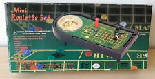 Set Mini Roulette Tavolo Gioco Azzardo Board Hazard Game Casinò Fiches + Scatola