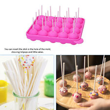 AU 20PCS Silicone Tray Pop Cake Stick Mould Lollipop Party Cupcake Baking Mold