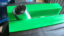 "6"" Green Urethane,  Waffle Face, Bench Vise, Soft Jaws w/ Magnetic Retainers"