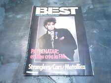 BEST N° 197 / DECEMBRE / PAT BENATAR / STRANGLERS / CARS / METALLICA