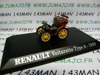 RE20E voiture 1/43 M6 Universal Hobbies : voiturette RENAULT TYPE A 1899