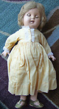 "1930's 20"" American Character Chuckles composition doll glass eyes Girl W/ Shoes"