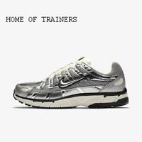 Nike P-6000 Metallic Silver Sail Black Metallic Silver Men's Trainers All Sizes