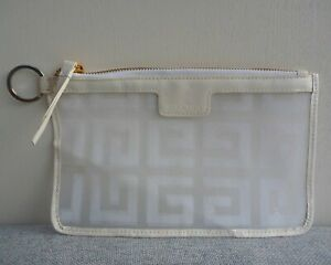 Givenchy Parfums White see through Makeup Cosmetics Bag, Brand NEW!