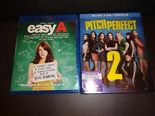 EASY A & PITCH PERFECT TWO-2 movies-EMMA STONE, ANNA KENDRICK, REBEL WILSON