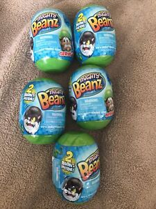 Lot of 5 - Series 2 Mighty Beanz Mystery Pod/Pack 2 Beanz in each Pod NEW SEALED