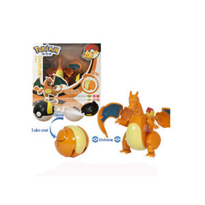 Pokemon Charizard With Pokeball Action Figure Deformation New Toy Gift Doll