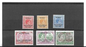St. Kitts and Nevis King George VI Anguilla Tercentenary  set of six Mint (6)