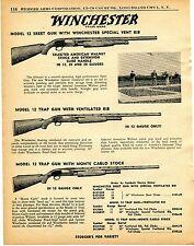 1960 Print Ad of Winchester Model 12 Skeet & Trap Monte Carlo Shotgun