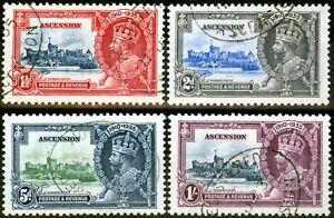 Ascension 1935 Jubilee Set of 4 SG31-34 V.F.U