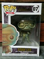 Funko POP Comics STAN LEE Patina finish w/ Gold Foil Stamp Autograph Mint in Box