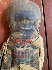 "Vtg. Advertising Cream of Wheat Cloth Doll 17"" Chef Rastus Black Americana"