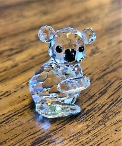 Swarovski Crystal Mini Baby Koala Bear Figurine, Facing Right, Box, Logo, COA