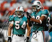 Zach Thomas / Jason Taylor Autographed Signed 8x10 Photo ( Dolphins ) REPRINT