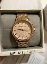 Authentic Michael Kors  Argyle Rose Gold Tone Stainless Steel Watch MK3156