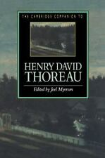 Cambridge Companions to Literature: The Cambridge Companion to Henry David Thor…