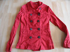 H&M DIVIDED tolle 2 reihige Jacke rot Gr. 34 TOP MD1115