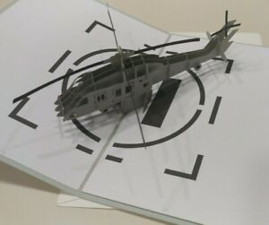 Lovepop Helicopter Pop Up Greeting Card Military Pre Owned EUC No Writing