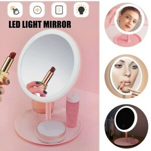 Magnifying Make Up Cosmetic Vanity Mirror Bathroom Shaving Suction Mirrors Light