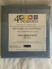 4 Seasons Light Weight Year Round Blanket Wedgewood Blue Full/Queen MicroFlannel
