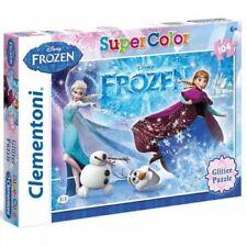 Frozen Glitter Puzzle Super Color 104 Piece Kids Childrens Olaf Anna Elsa