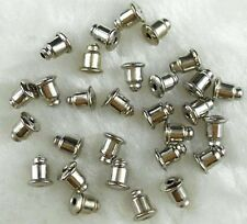 100 Silver Gold Earring Backs Stoppers Ear Post Nuts Jewelry Findings 5mm DIY