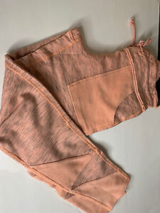 Free People Movement Kyoto Leggings Pants Ankle Mango Orange Pink Medium NWT