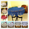 Round Vintage Crochet Cotton Lace Table Cloth Doilies Mat Floral Tablecloth 35""