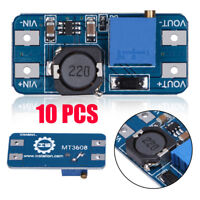 10x MT3608 2A 2V-24V DC-DC Step Up Power Apply Booster Power Module for Arduino