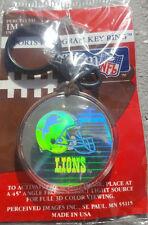 DETROIT LIONS KEY CHAIN KEYCHAIN KEY RING NFL IMAGES HOLOGRAM FOOTBALL STAFFORD