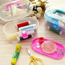 Sewing Kit Thread Threader Needle Tape Measure Scissor Thimble Box Bag new 24pcs
