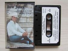 """DOW JONES DOES COUNTRY """"TEXAS STYLE"""" CASSETTE, TESTED, RARE 1988 TEXAS TAPE."""