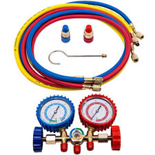 Ac Refrigeration Manifold Gauge Set Hvac R12 R22 R502 R134a 5ft Charging Hose