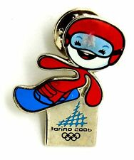 Pin Spilla Olimpiadi Torino 2006 Mascotte Sport - Mascotte Snowboard