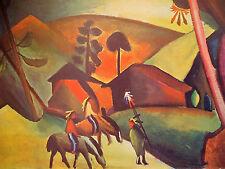 Macke: Indianer auf Pferden; Hochwert. Kunstdruck 204 Kunstkreis Luzern 60x48cm