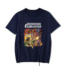 Dungeons And Dragons Retro T-Shirt Men's Clothing Black