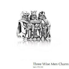 PANDORA Charm Sterling Silver ALE S925 THREE WISE MEN 791233 retired TWO TONE