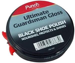 Punch Ultimate Guardsman Gloss BLACK Shoe Polish Nourishes Protects Shine Shoes