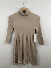 NWT LEO & NICOLE Sweater Women's Size M 100% Cotton Long Sleeve Beige Turtleneck