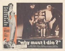 """WHY MUST I DIE""-ORIGINAL LOBBY CARD-NOIR-TERRY MOORE IN ELECTRIC CHAIR"