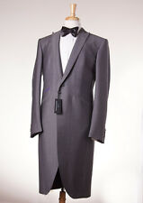 NWT $2995 OZWALD BOATENG Gray Wool-Mohair Frock Coat-Style Tuxedo Slim 44 R Suit