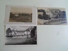 3 House Postcard (2 are Real Photos) 1 is dated 1907 Could be Same House  §A1523