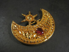 HP01 Ethnic Gold plated tikka Party Bridal Wedding Hair Moon PIN Jewelry NEPAL