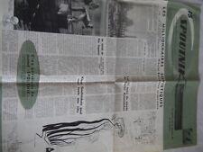 Vintage Spoutnik newspaper Bruxelles expo 1958 USSR CCCP Russian