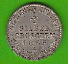 Preußen 1/2 Silbergroschen 1865 A besser als vz nswleipzig