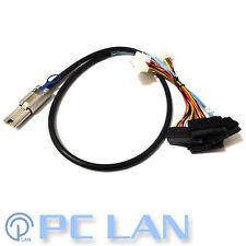 1M External Mini SAS to SAS w/ Molex Power Cable SFF-8088 to 4x SFF-8482