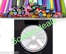 3d Nail Art Fimo Canes Sticks FLOWER HEARTS make 800 slices +case 1ST CLASS POST