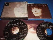 COFFRET 2 CD / JULIETTE GRECO je suis comme je suis 44 TITRES / PHILIPS 1990 EX